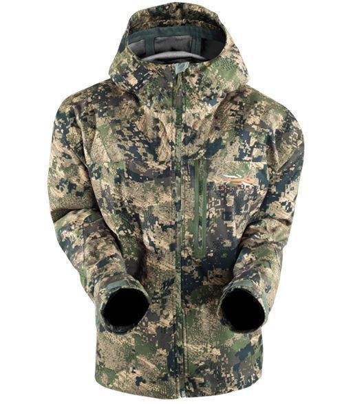 SITKA Downpour Jacke in Ground Forest