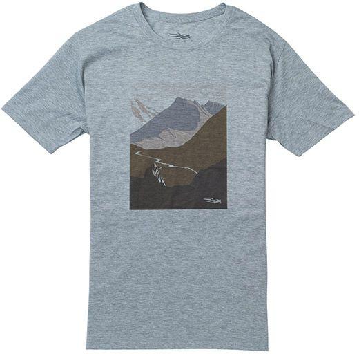 SITKA Glassing T-Shirt in Heather Grey, leicht und schnell trocknend
